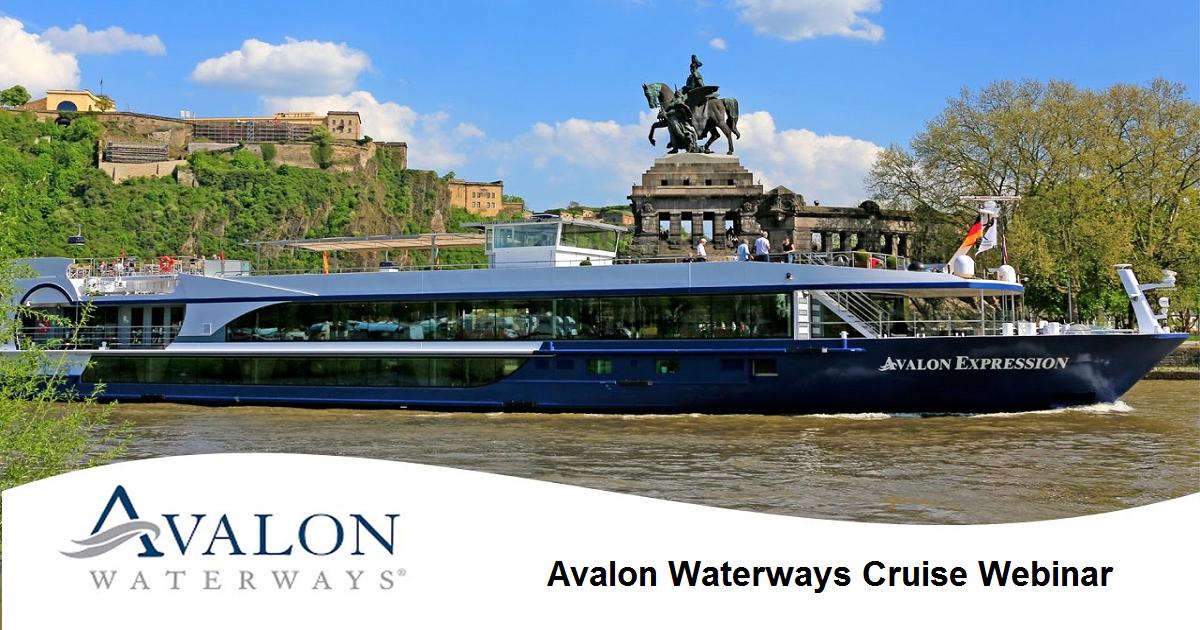 Avalon Waterways Cruise Webinar