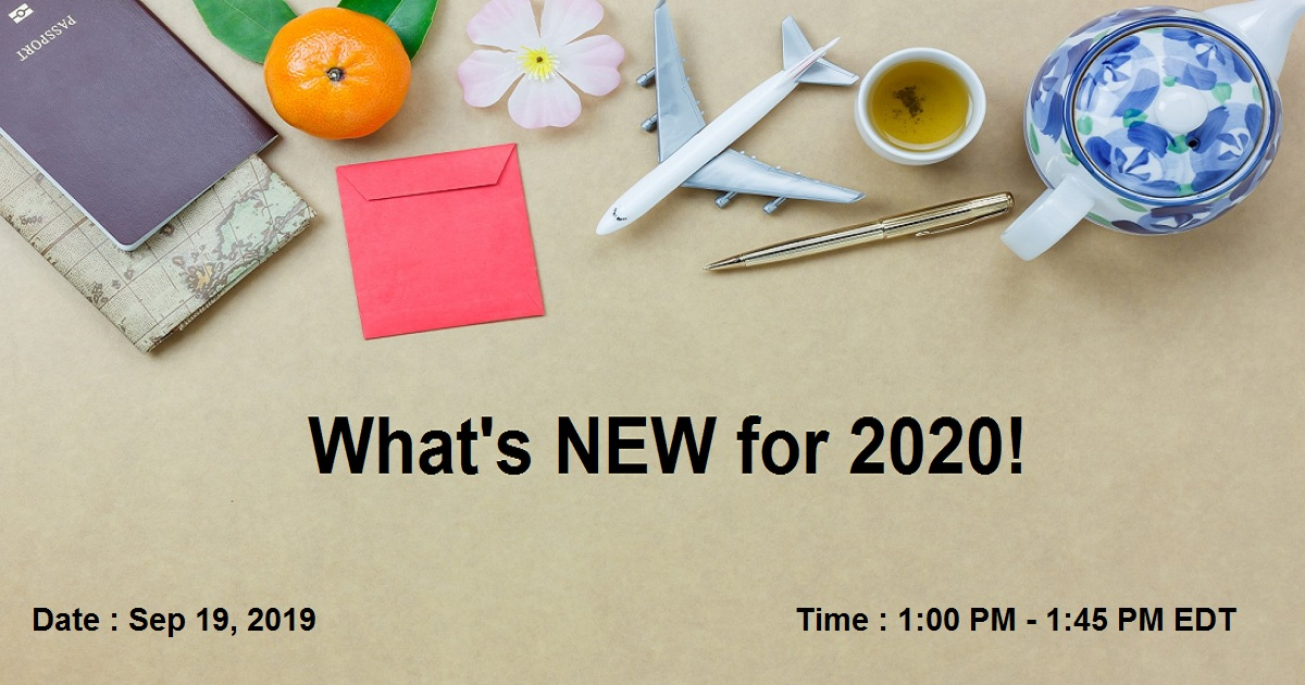 What's NEW for 2020!