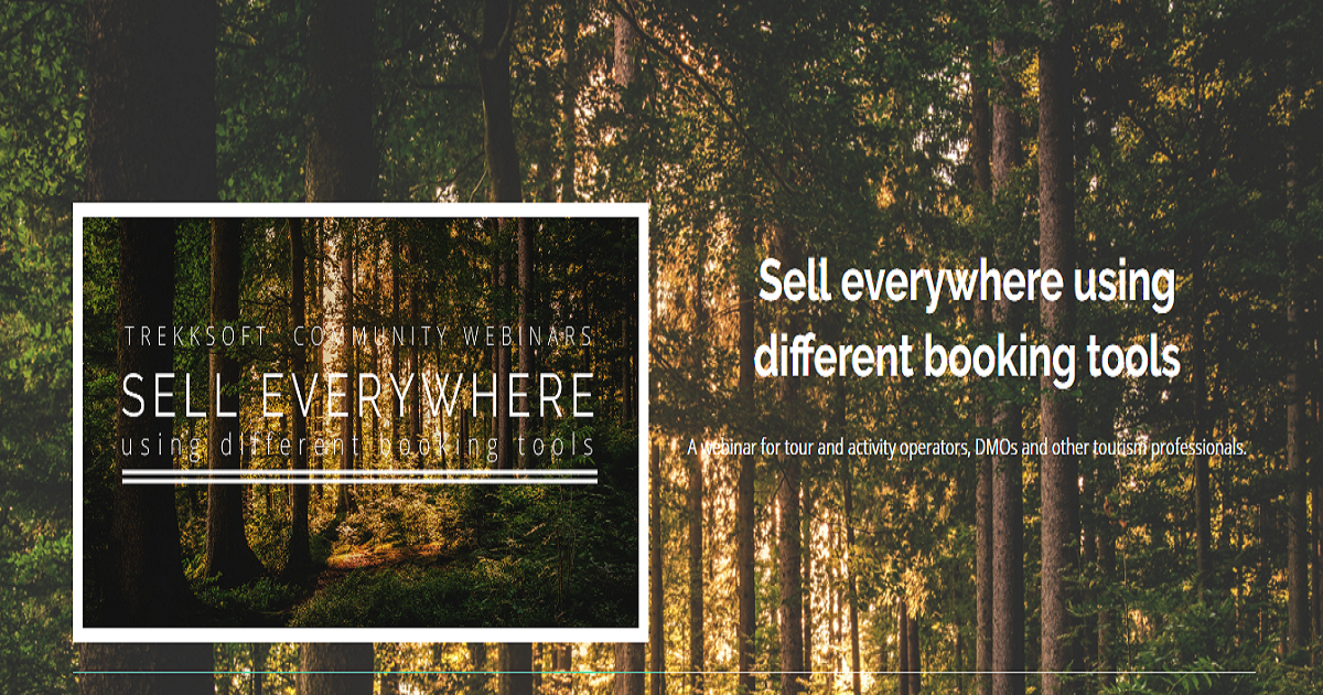 Sell everywhere using different booking tools